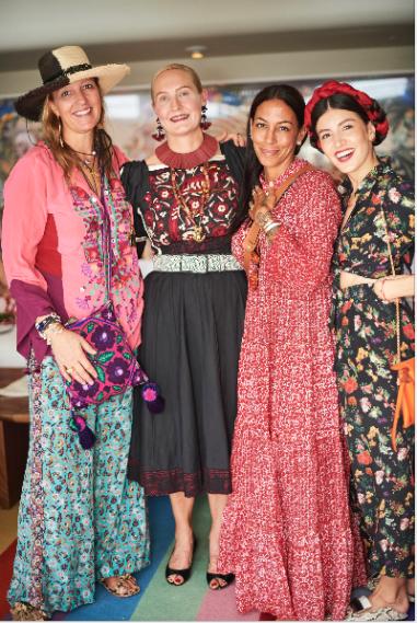 Stephanie Von Watzdorf, Polished Coconut, Daria Hines, and me /Photo by Tato Gomez